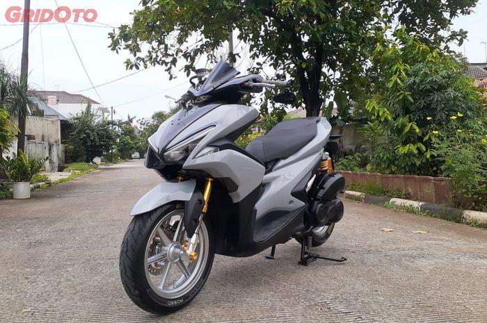 Yamaha Aerox ganti warna body Nardo Grey spesial