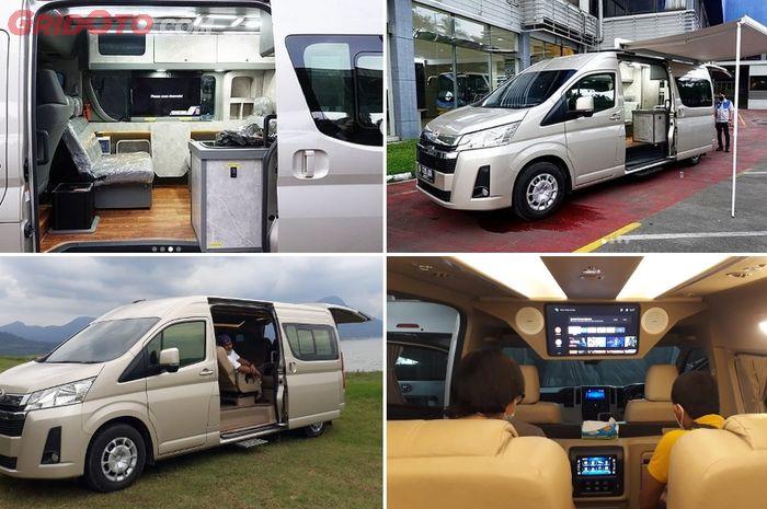 Toyota HiAce Premio campervan Delima Jaya dan versi HiAce Premio Luxury Baze