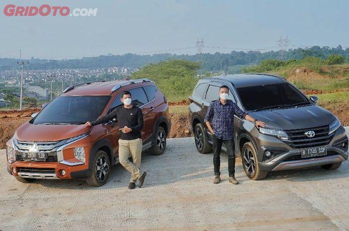 Komparasi Mitsubishi Xpander Cross VS Toyota Rush TRD Sportivo