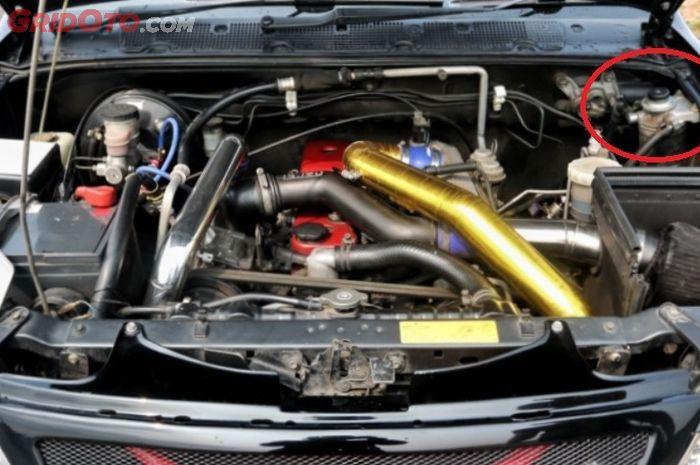 Posisi pompa BBM di mesin diesel