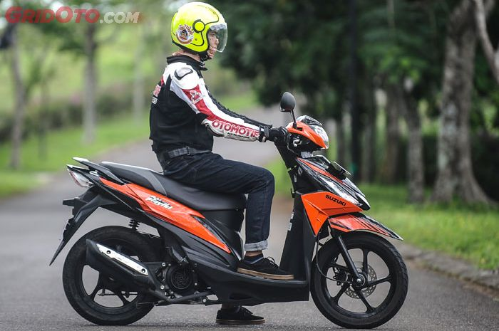 Posisi duduk Suzuki Address Playful cukup nyaman untuk postur rider Indonesia