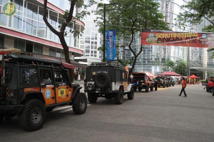Suasana Scrutineering IOX Andalas di kawasan Epicentrum Kuningan.