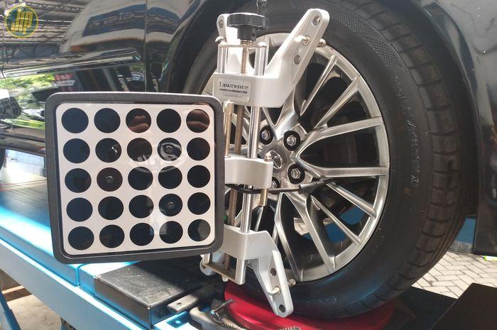Ilustrasi penyetelan atau balancing roda