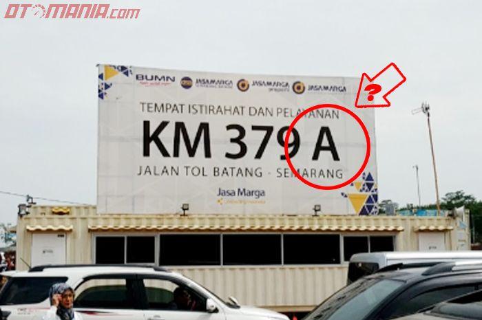 Arti kode huruf A dan B di TOL Trans Jawa