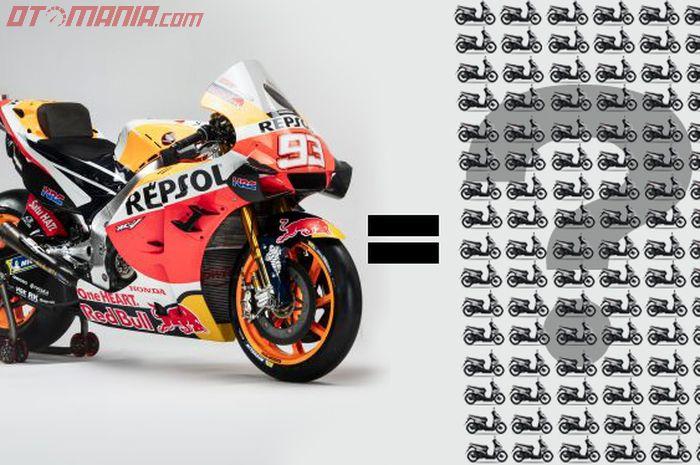 Harga Motor MotoGP Honda RC213V mahal banget, bisa buat beli ribuan Honda BeAT