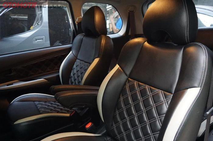 Captain seat di Toyota Veloz dengan pola custom berbahan MBtech Superior