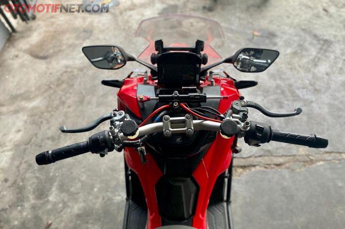 Honda ADV150 bisa pasang steering damper, setang lebih stabil dan tampilan lebih kece
