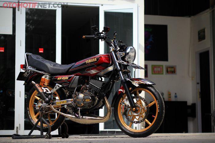 Modifikasi Yamaha RX-King yang tampil lebih modern meski sudah berumur 24 tahun