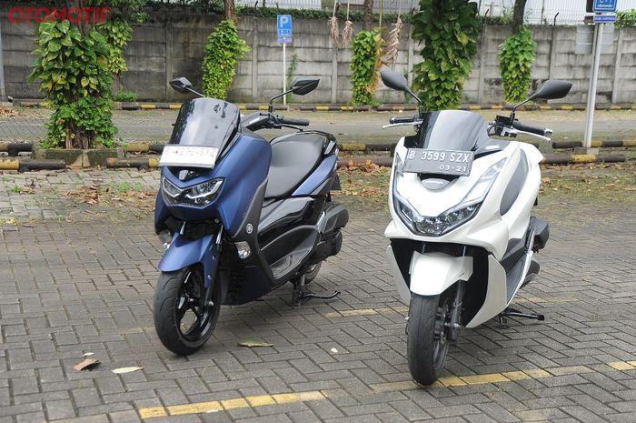 All New Honda PCX 160 diadu dengan All New Yamaha NMAX 155