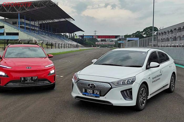 Hyundai Ioniq dan Kona Electric di acara Hyundai Track Day 2021