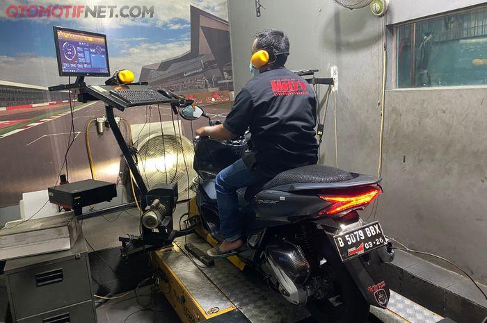 All New Honda PCX 160 punya akselerasi lebih singkat dan top speed tinggi pakai pakean CVT dari RI Matic Shop & Service