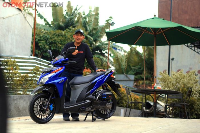 Modifikasi Honda Vario 125 mlik Rama, tampil apik dan siap turing