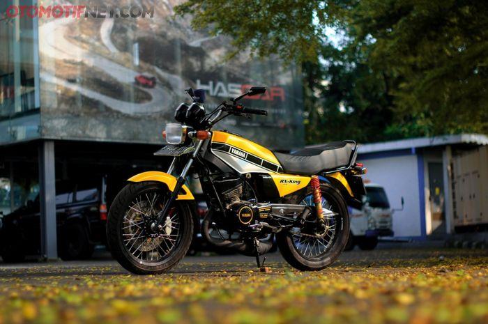 Modifikasi Yamaha RX-King garapan Suto Garage dengan part seadanya yang ternyata hedon!