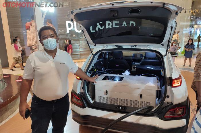 Hyundai Kona yang membopong inverter
