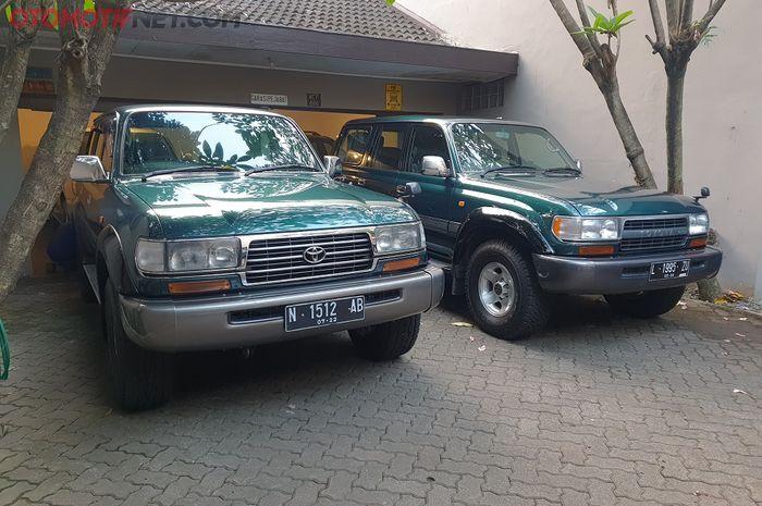 Toyota Land Cruiser VX-R 1997, diberi nama Ronces (kiri) dan Rojali (kanan)
