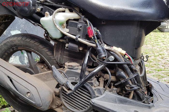 Iustrasi kabel bodi yang terpasang di Honda Vario