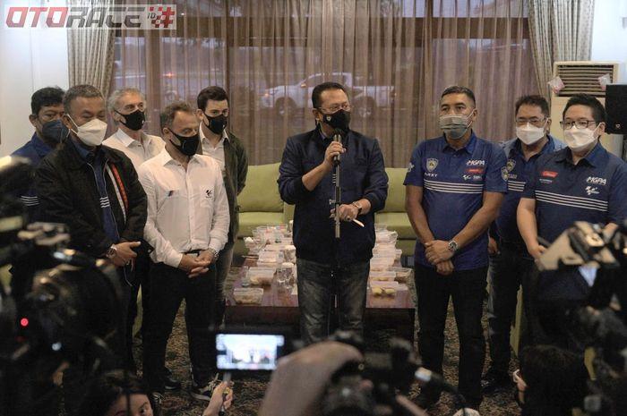Dorna Sports dan FIM bertemu Bamsoet sebelum meninjau sirkuit Mandalika untuk MotoGP Indonesia