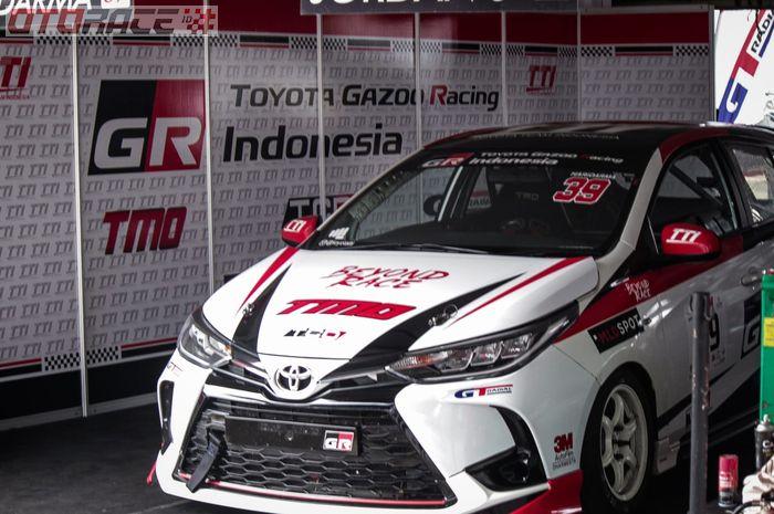 Nuansa nama Toyota Gazoo Racing Indonesia sudah mulai terpampang menggantikan Toyota Team Indonesia.