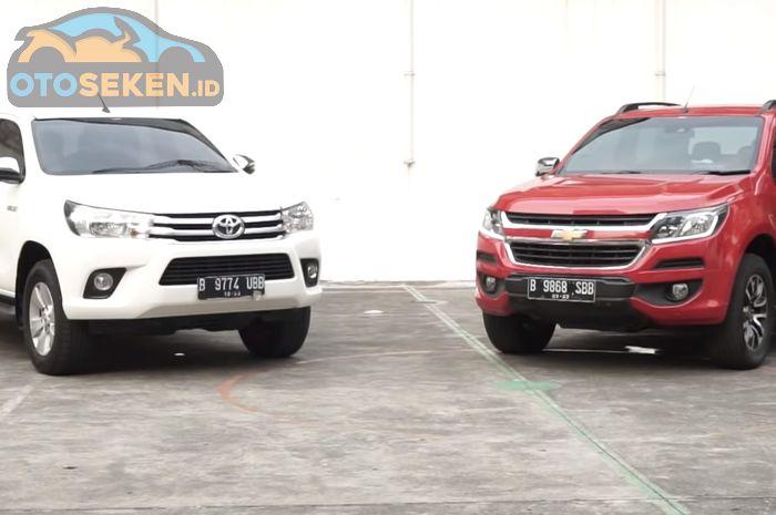 Komparasi double cabin Toyota Hilux vs Chevrolet Colorado