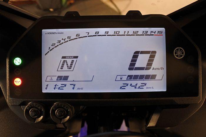 Ilustrasi indikator bensin motor mulai berkedip