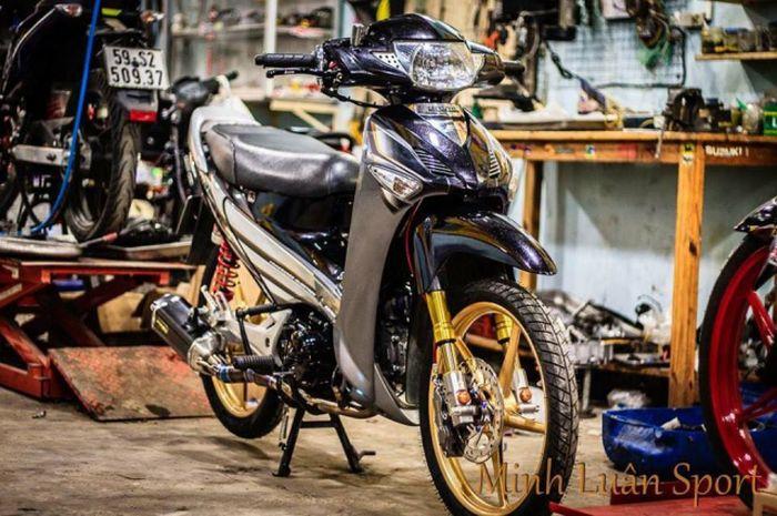 Gokil Motor Bebek Sekelas Honda Supra X Aja Pakai Upside Down Gridoto Com