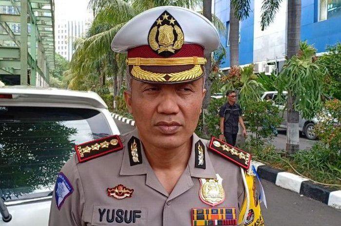 Dirlantas Polda Metro Jaya, Kombes Pol Yusuf mengungkap hasil uji coba tilang elektronik di Polda Metro Jaya, Jakarta Selatan pada Kamis (1/11/2018).(RIMA WAHYUNINGRUM)