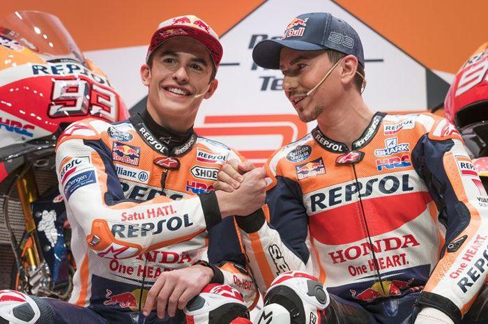 Sama-sama cedera di libur musim dingin, Marc Marquez dan Jorge Lorenzo akui siap di MotoGP Qatar (10/3)