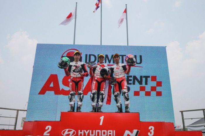 Afridza Munandar harus puas posisi 3 di race 2 ATC Thailand