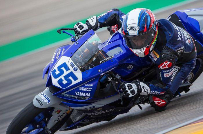 Galang Hendra Pratama menjadi pembalap tercepat ke-5 secara keseluruhan di sesi latihan bebas hari pertama WSSP300 Aragon