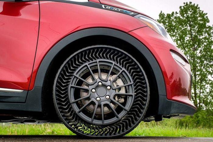 Ban tanpa angin dan anti bocor besutan General Motor dan Michelin