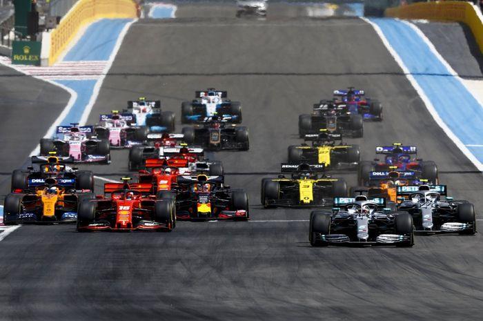 Tidak banyak ubahan posisi pada hasil lomba F1 Prancis sedari awal