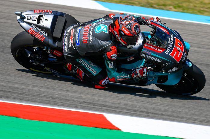 Pembalap Petronas Yamaha, Fabio Quatararo di MotoGP Jerman 2019