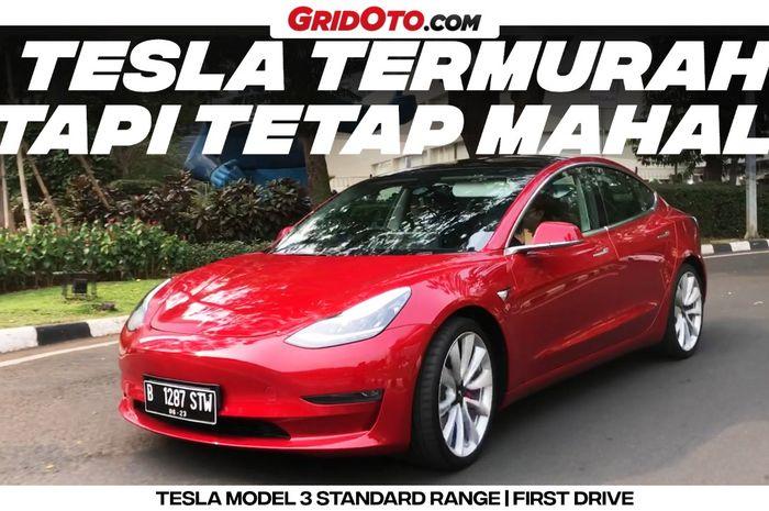 Video Model 3 Mobil Listrik Termurah Dari Tesla Begini Rasanya Gridoto Com