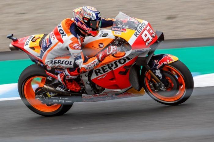 Marc Marquez beri kejutan pada penghujung sesi FP4 MotoGP Jepang