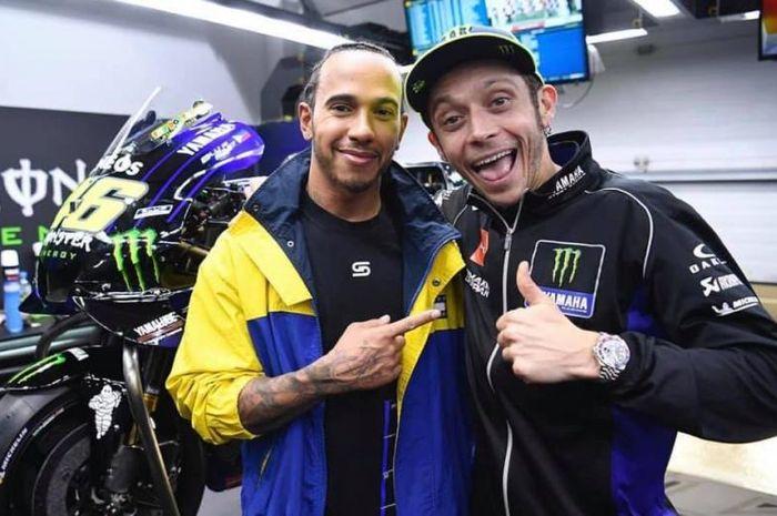 Valentino Rossi dan Lewis Hamilton