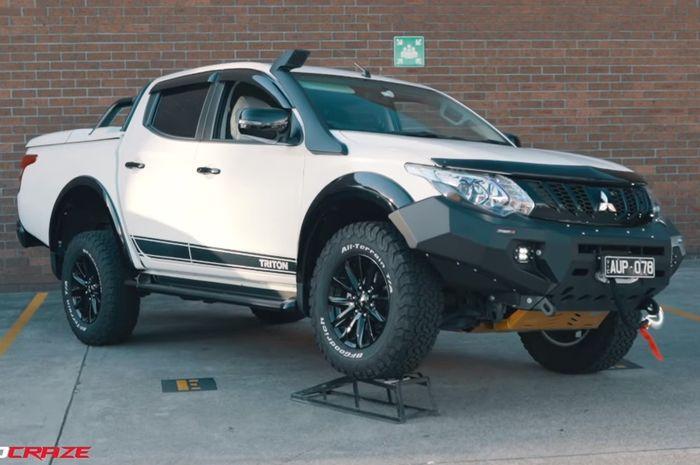 Modifikasi Mitsubishi Triton dengan tampilan gagah
