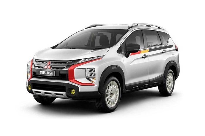Modifikasi digital Mitsubishi Xpander Cross dengan gaya rally look
