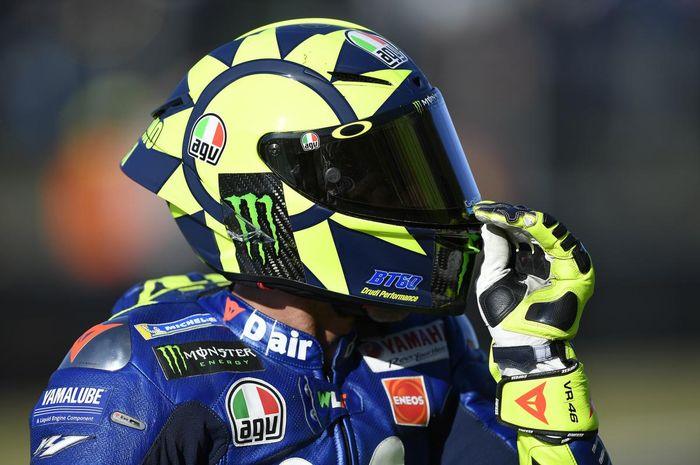 Flat Visor di AGV Pista GP-R milik Valentino Rossi
