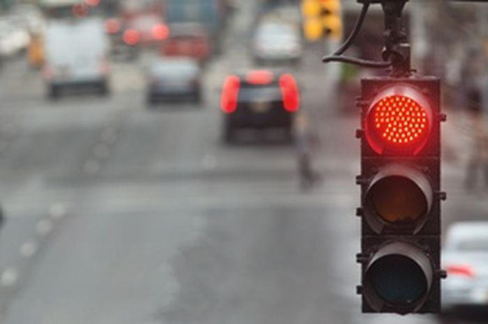 Ilustrasi lampu merah