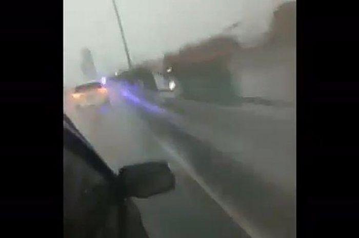 Cuplikan video aksi kejar-kejaran polisi dengan Toyota Sienta berisi sindikat pengedar sabu