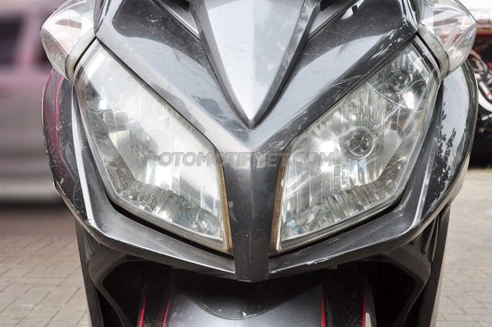Ilustrasi lampu motor mati