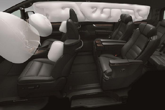 Airbag dalam kabin Toyota Alphard dan Vellfire