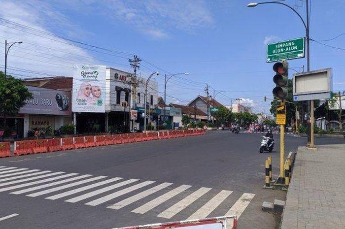 Jalan protokol menuju Alun-alun Purwokerto, Jateng akan ditutup sementara yang sudah berlaku sejak Selasa (12/05/2020).