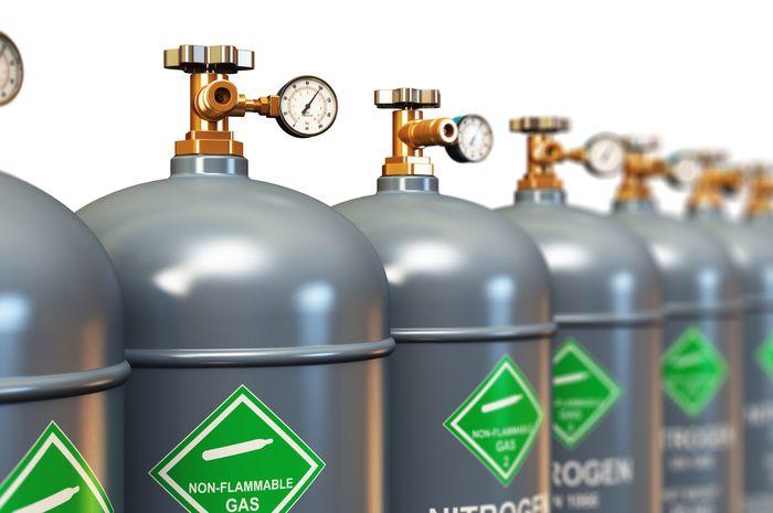 Ilustrasi Tabung Gas Nitrogen