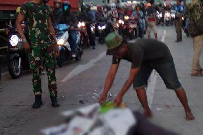 Kondisi korban kecelakaan lalu lintas di perbatasan Semarang-Kendal, Rabu (8/7/2020).
