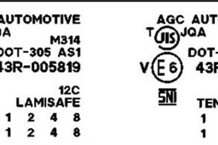 Standar Kaca mobil AGC Automotive