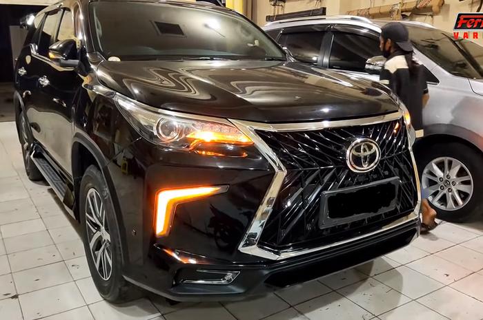 Toyota Fortuner VRZ pakai body kit ala Lexus