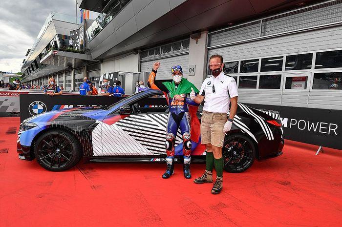Miguel Oliveira menang MotoGP Stiria, dapat hadiah mobil BMW M4 versi terbaru