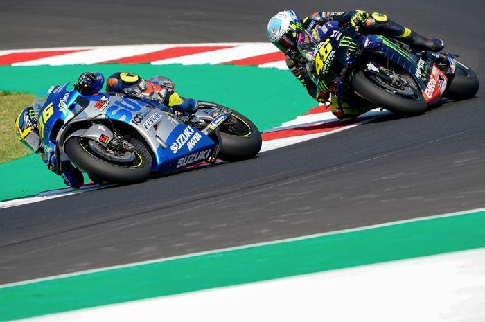 Joan Mir gagalkan Valentino Rossi podium di MotoGP San Marino 2020