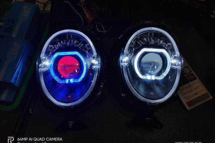 Headlamp projie custom untuk Honda Scoopy.